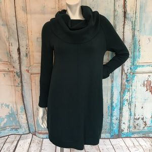 VINCE CAMUTO Green Cowl Neck Sweater Dress